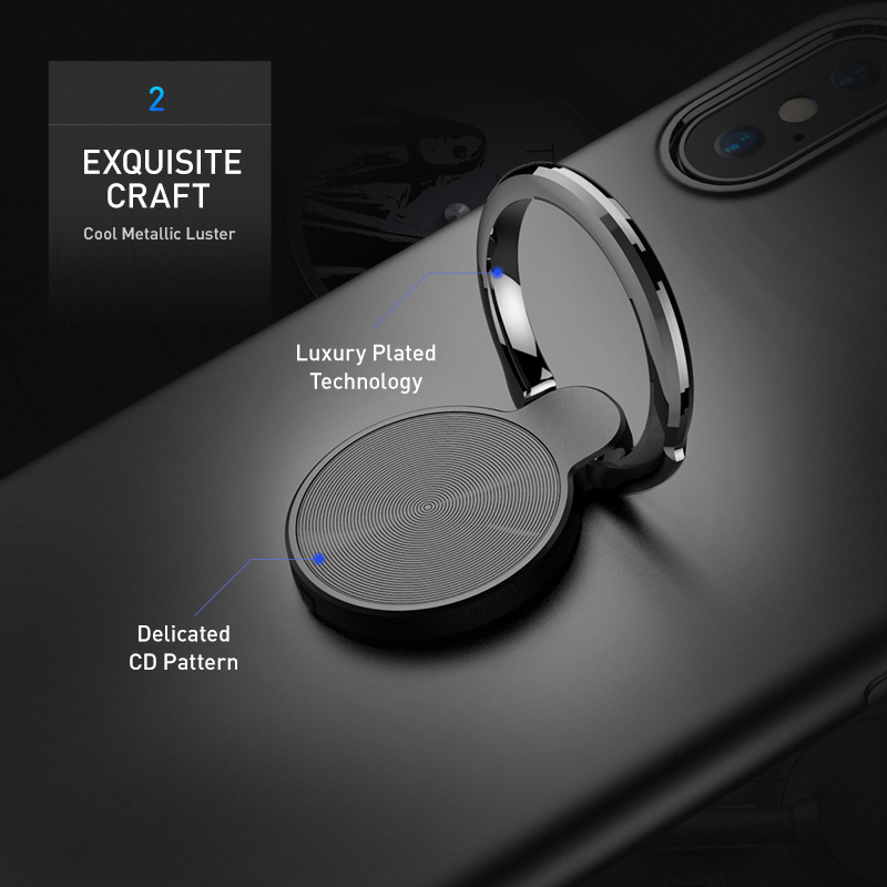 FLOVEME Luxury Magnetic Phone Case For iPhone X 10 360 Rotation Ring Holder Soft Silicone Matte Cover Cases For iPhone 7 8 Plus