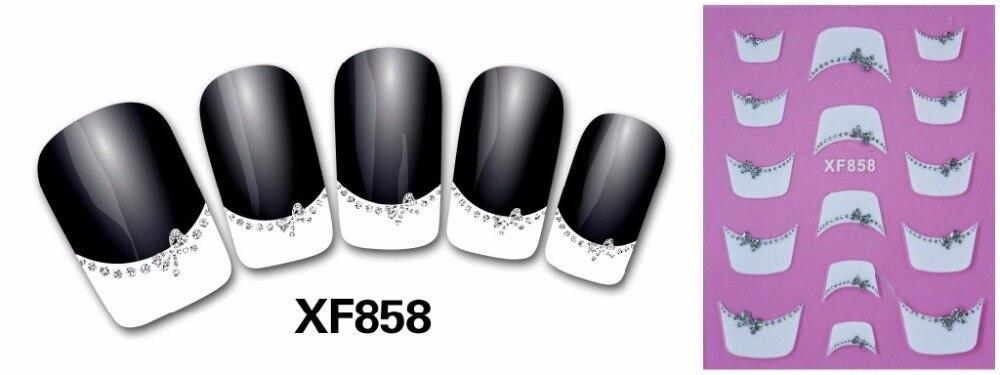 2 Sheet nail sticker / nail stickers / French nail stickers / nail stickers XF858