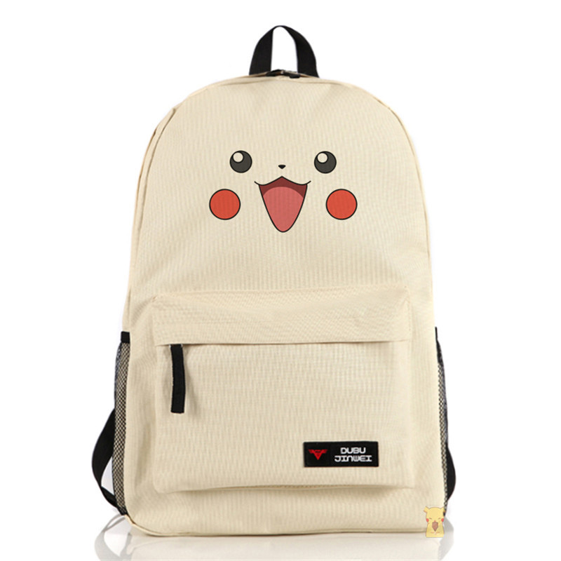 Pocket Monster High Quality Men Women Backpack font b Pokemon b font Zipper Travel Bags Pikachu
