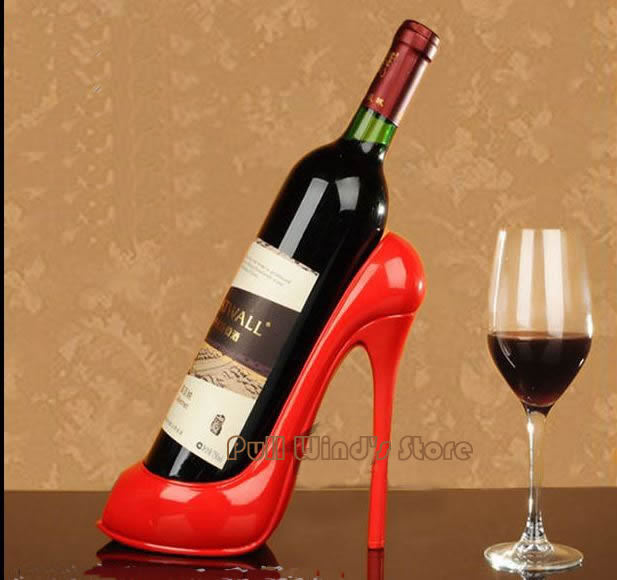 funny heels wine rack interest resin shoes wine holders cool wine storage creative home decorations