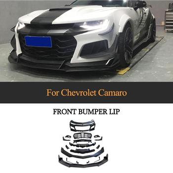 Carbon Fiber Car Front Bumper Lip Spoiler for Chevrolet Camaro 2016 - 2019 FRP Bumper Lip Spoiler Body Kits