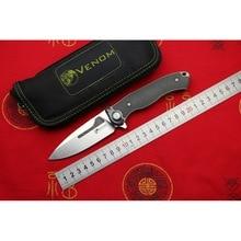 Яд кости врача M390 сталь Титан CF Флиппер Складной нож Открытый Отдых Охота Выживание Карманный Кухонные Ножи EDC инструменты