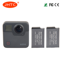 JHTC 2pc 2720mAh Battery for Gopro ASBBA001 Battery and Gopro Fusion 360 Degree Action Camera
