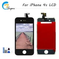 ET-супер черные и белые 2 шт./лот для iphone 4S ЖК-дисплей Экран Сенсорный экран планшета сборки хорошее качество Repair Tool Бесплатная доставка