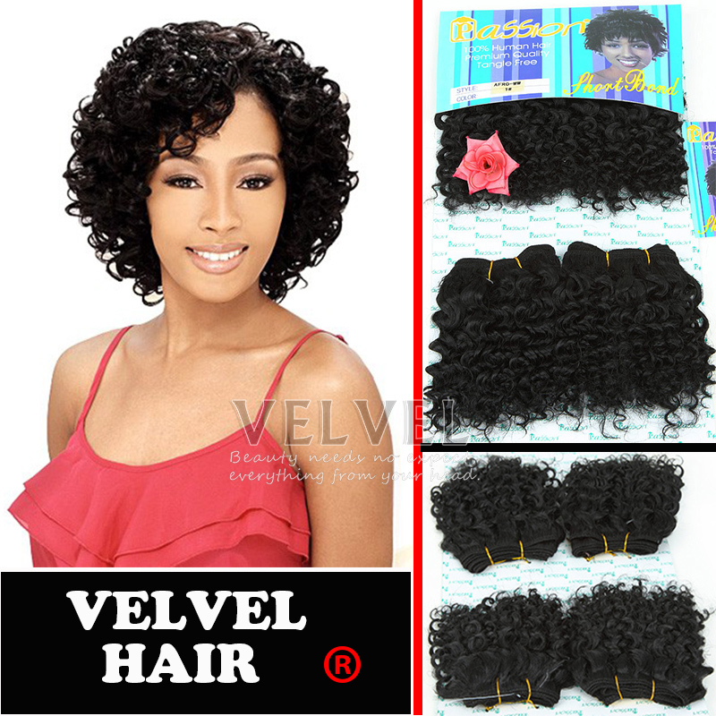 Free Shipping Passion Afro Curl Hair Extensions Short
