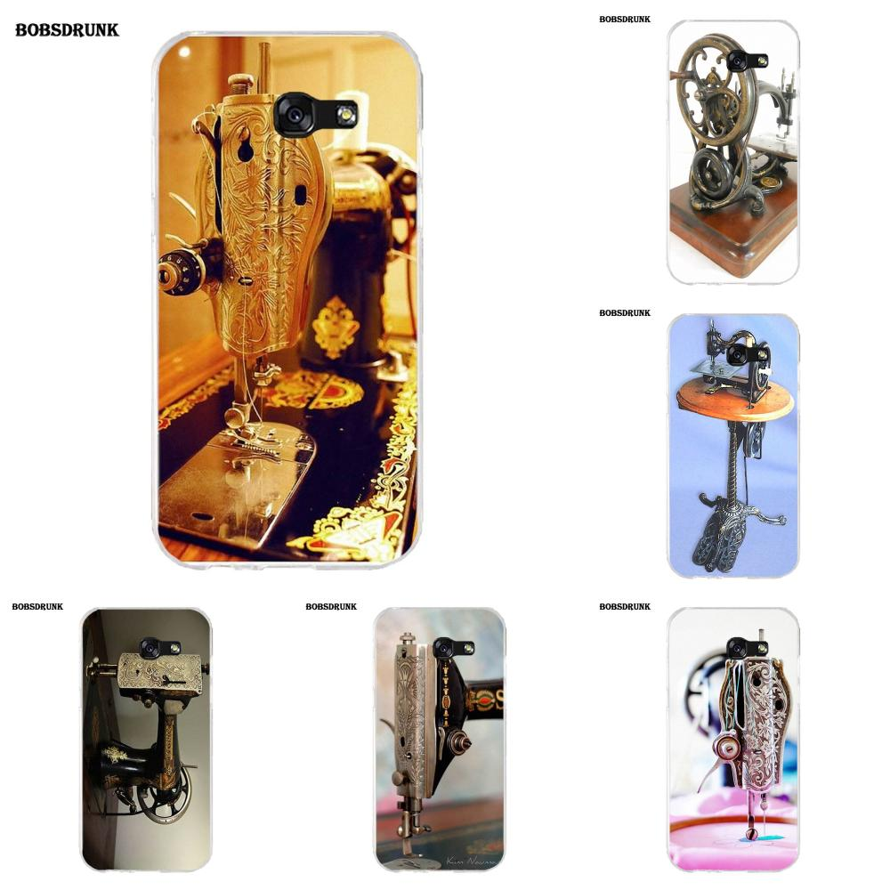 EJGROUP Antique Sewing Machine Soft TPU Cases Capa Cover For Samsung Galaxy A3 A5 A7 J1 J2 J3 J5 J7 2015 2016 2017 image