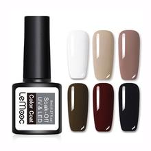 LEMOOC 8ml  Color Gel Nail Polish 25 Colors Soak Off UV Varnish Art Manicure Lacquer Black