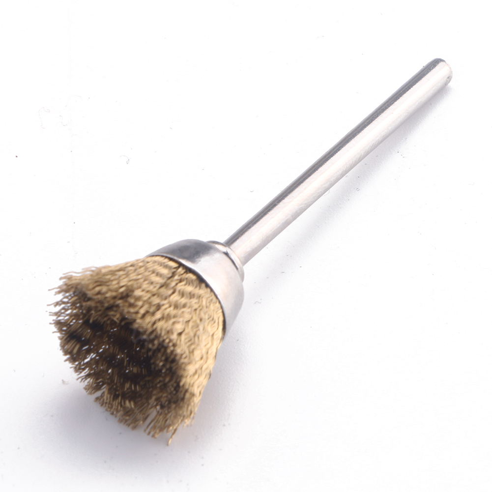 Buy 3mm Shank Polishing Brass Wire Wheel Cup Brushes For Dremel Rotary Cleaning Tool for $1.00 in AliExpress store