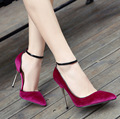 AVVVXBW 2017 Spring Women's Pumps Shallow Mouth Pointed Toe  Buckle High Heels Sexy Wedding Shoes Woman for Women's Shoes  C472