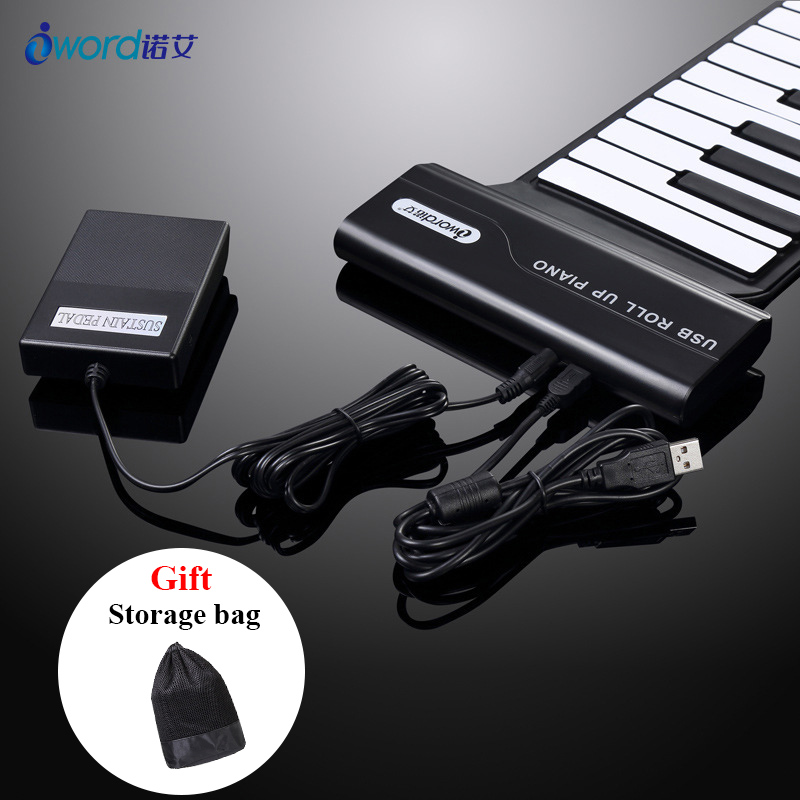 2019 Nouveau 88 Clés Usb clavier midi Clavier, Piano Touches, Handscroll, Roll Up
