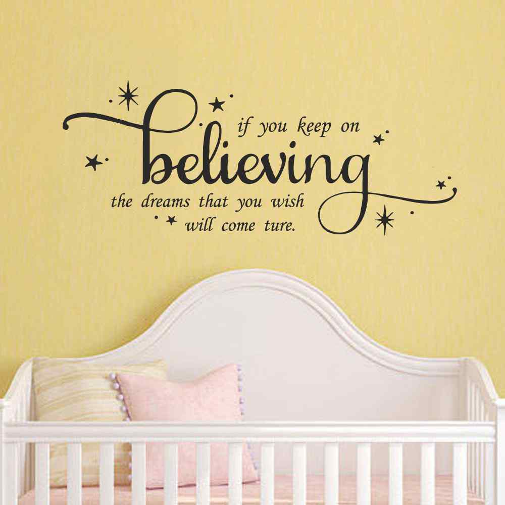 Cinderella Wall Quote Decal If You Keep On Believing Girls