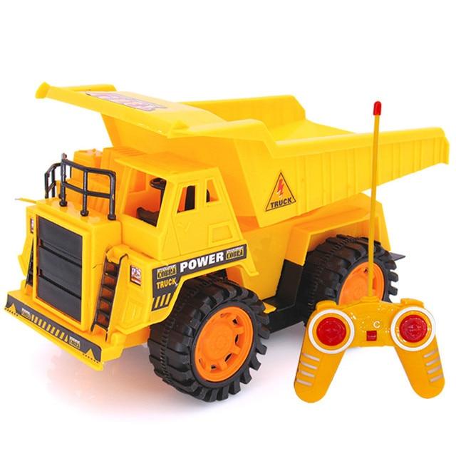Brinquedo do RC 4CH HIINST 5 Funcional de Controle Remoto Grande Caminhão Carregado de Areia Brinquedos Veículo 19APR26 P35