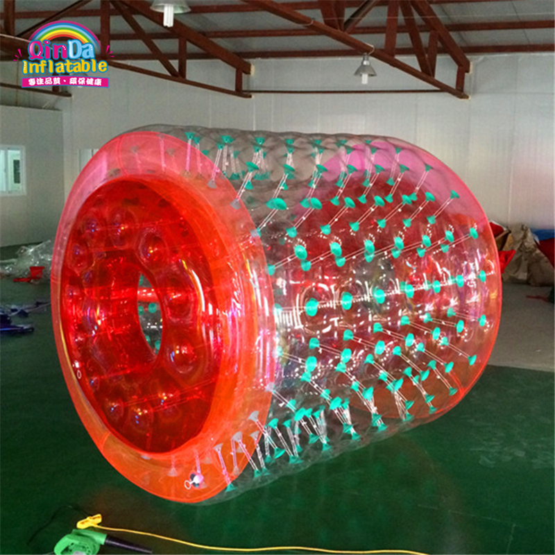 Promotional Custom Inflatable Water Wheel , Pool Inflatable Water Roller Ball for Sale commercial sea inflatable blue water slide with pool and arch for kids