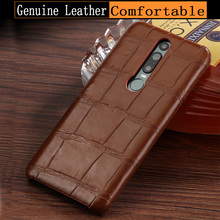 natural Genuine Leather luxurious phone case for Huawei Mate RS  9 8 9Pro 10Pro P20 Pro High end Crocodile skin protective