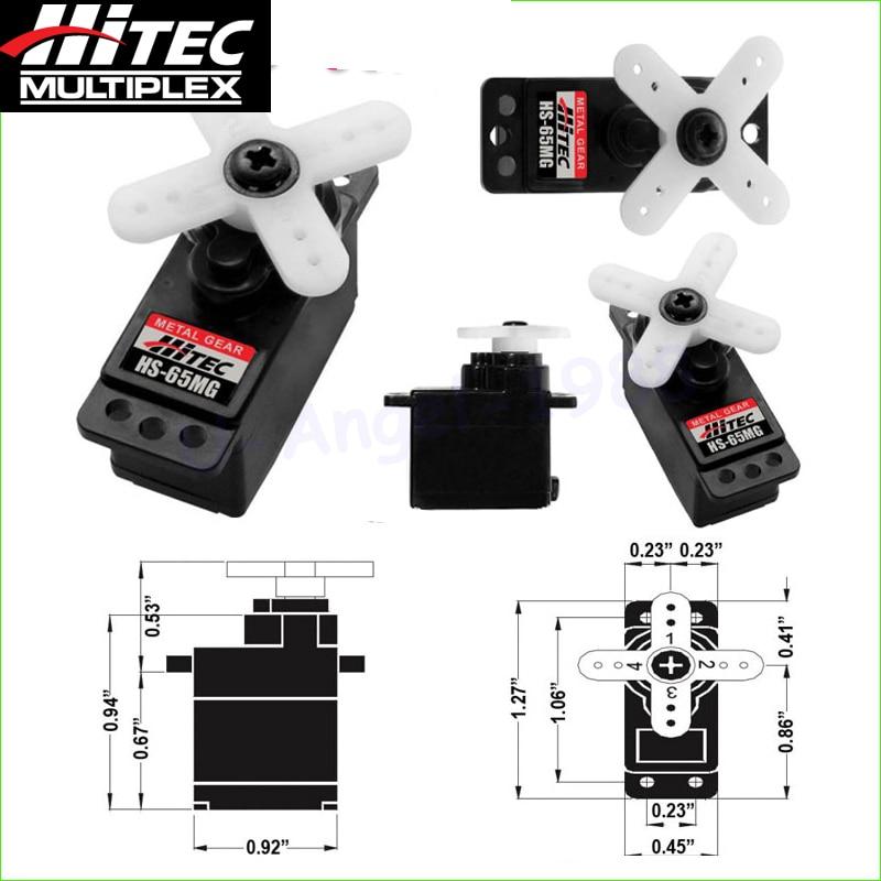 Original Hitec HS-65MG HS 65mg Micro Servo Futaba JR Trex 450 V2 creative hs 450
