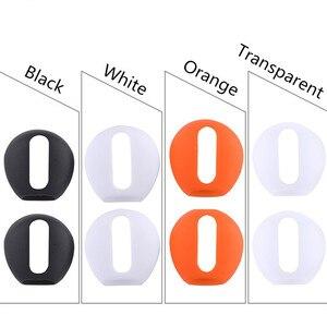 Image 2 - Auriculares antideslizantes ultrafinos de silicona, funda de repuesto mejorada para auriculares Airpods de Apple, 4 pares