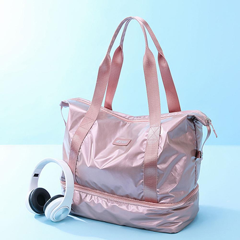 Tote Bag Waterproof Oxford Cloth Travel Bags Large Capacity Sports Bag Fitness Shoulder Bag Fashionable Solid Color Handbag