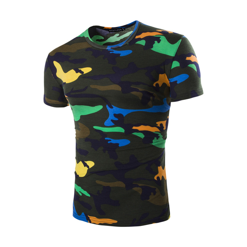 Brand New Tshirt Men Camouflage 2017 Summer Camo Top
