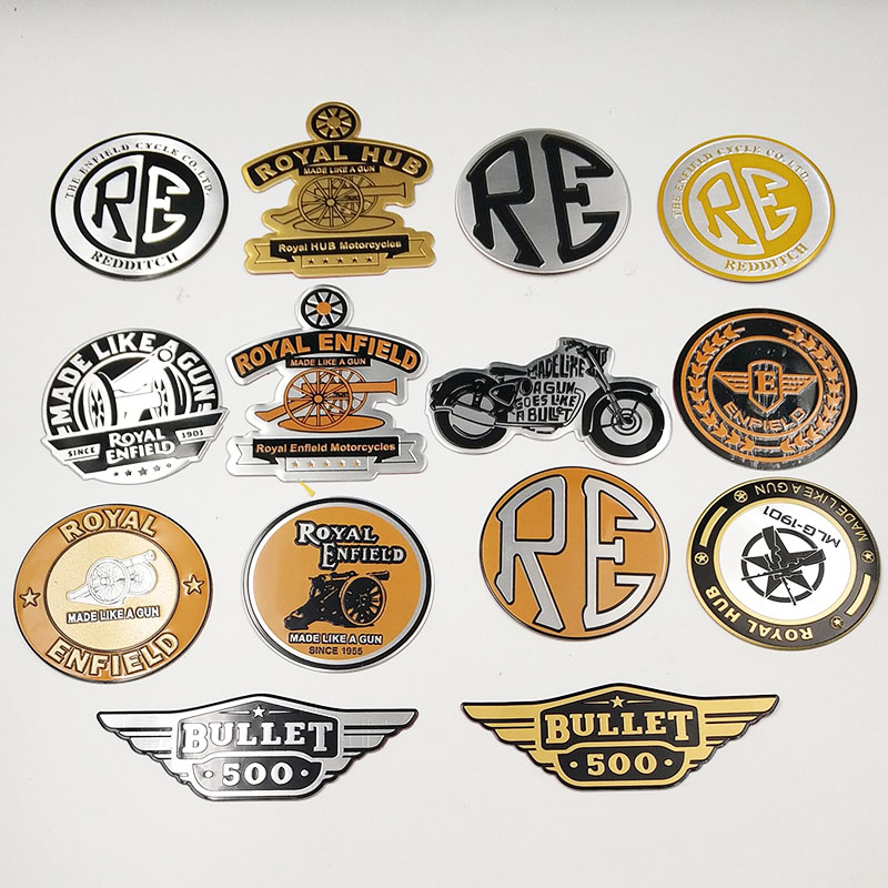 FASP  Decal & Sticker Be Retro Royal Enfield Motorbike Emblem Badge  Aluminum Standard Decorative Stickers