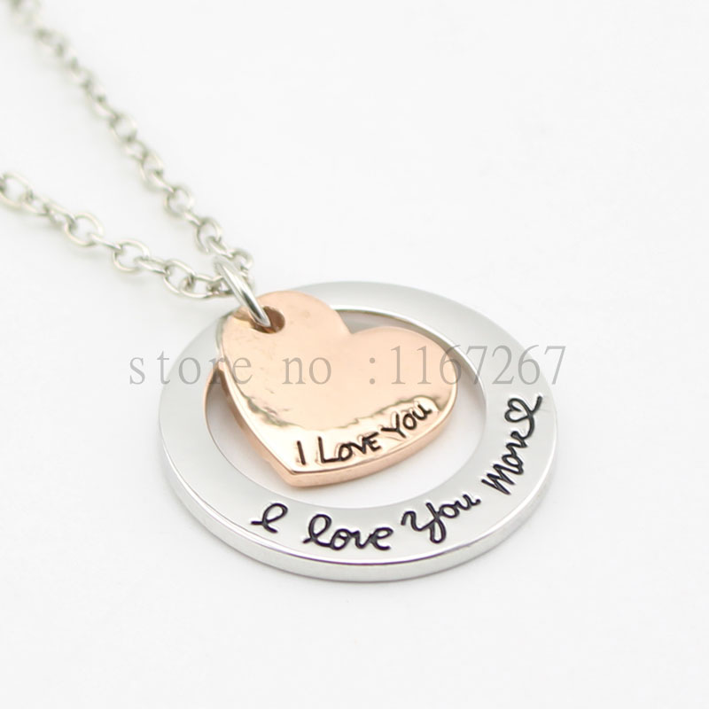 2016 anniversary necklace i love you more necklace. Black Bedroom Furniture Sets. Home Design Ideas