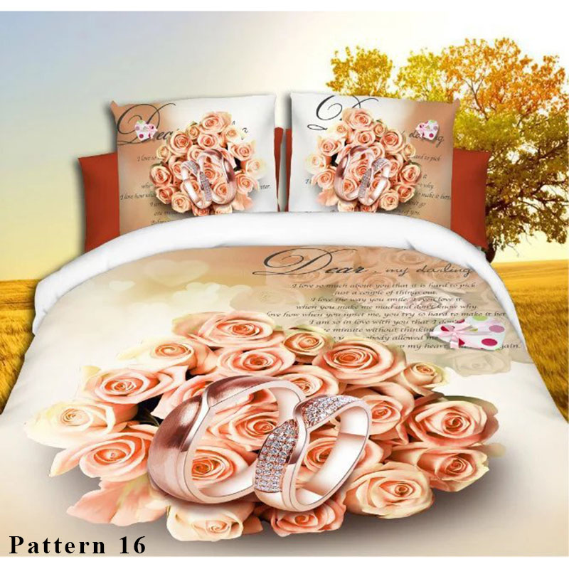4pcs/set Flower Animals Print 3D Bedding Sets Comforter Bed Clothes Duvet Cover Set Winter Bedspread Queen Size Bedlinen4pcs/set Flower Animals Print 3D Bedding Sets Comforter Bed Clothes Duvet Cover Set Winter Bedspread Queen Size Bedlinen