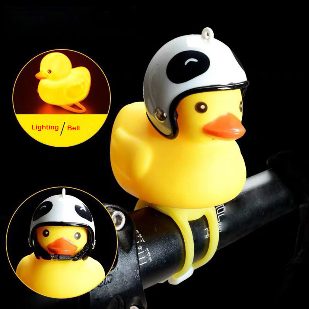 Duck Shape Bicycle Bell Handlebar Duck Head Light Shining Bicycle Accessories