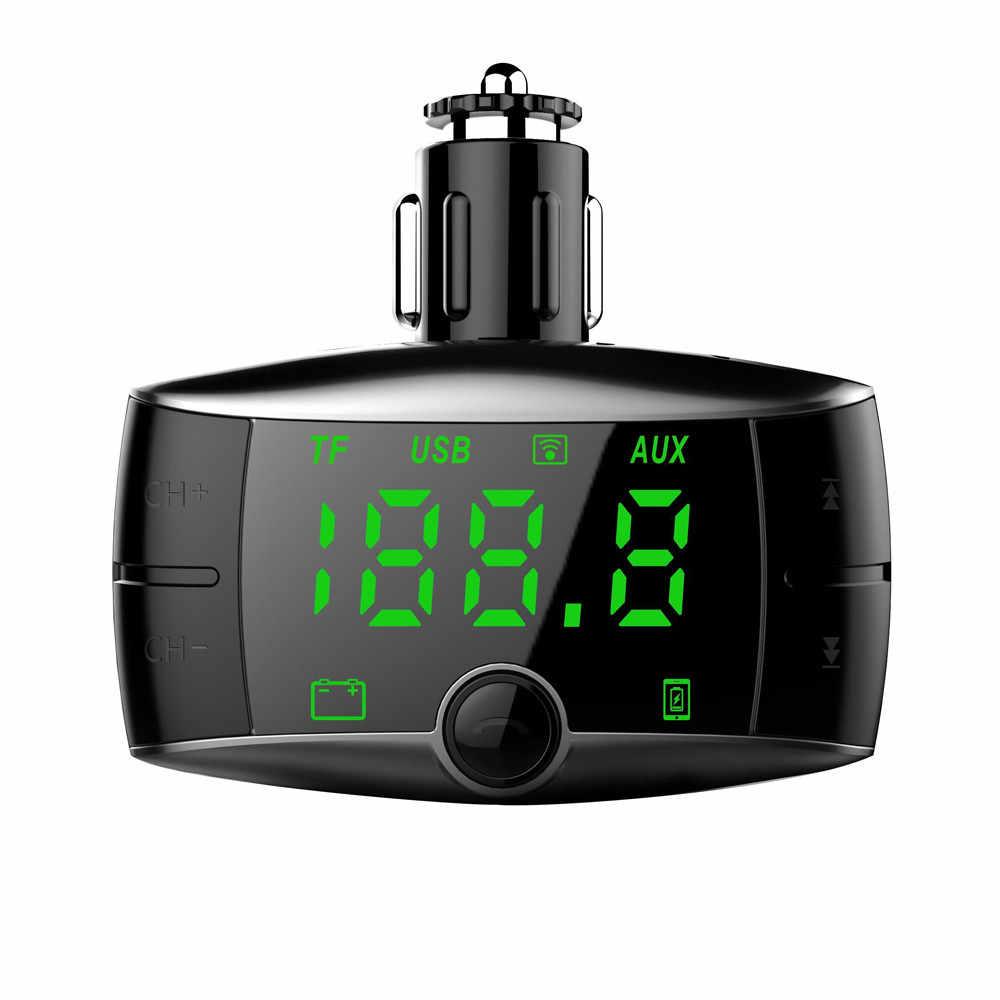 車の自動車多機能 SD カードデュアル USB 充電器カーキットワイヤレス Bluetooth FM トランスミッタ変調器 MP3 プレーヤーヴィンテージラジオ H29