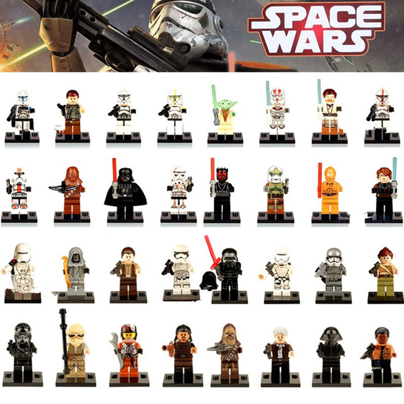 Educational Blocks Figures Darth Vader K3PO Stormtrooper Anakin Super Hero Starwars legoing Building Bricks Kids DIY Toys