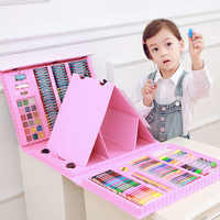 176PCS Kids Gift Creative Painting Graffiti Paint Brush Set Fashion Children Daily Entertainment Toy Art Sets With Easel