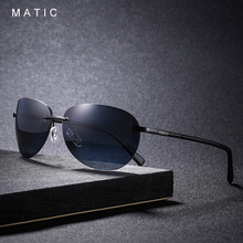 High Quality Black Polarized Vintage Retro Rimless Aviation Sunglasses For Men Women Brand Design uv400 Eyeglasses Male Glasses