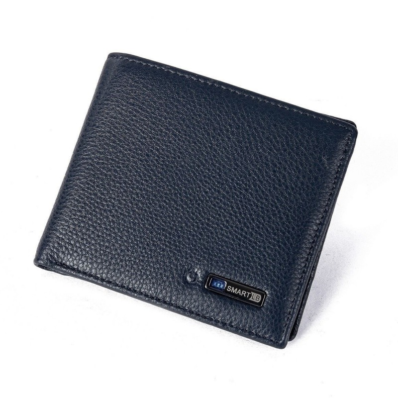 Men\s Short Leather Wallet First Layer Cowhide Smart Bluetooth Anti-Lost Anti-Theft Korean Fashion Goods