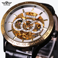Clock Men Winner Business Series Transparent Case Mens Watches Top Brand Luxury Automatic Watch Wrist Watch