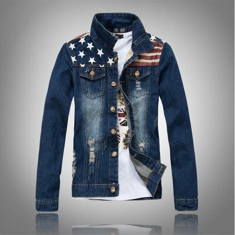 Popular American Flag Jean Jacket-Buy Cheap American Flag Jean ...