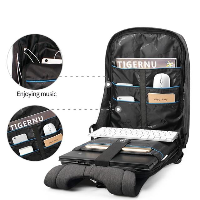 Tigernu Brand Anti Theft Design Men Backpack Notebook Backpack Women 14 15.6 Inch Backpack Leisure Travel Mochila Feminina 1