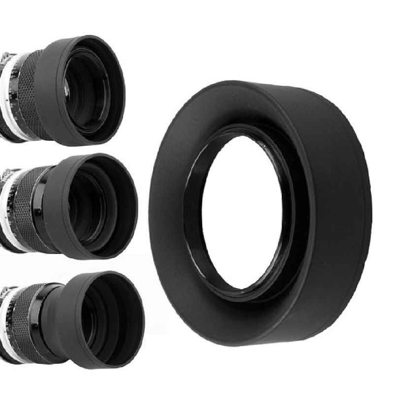 Lens Hood Rubber Collapsible Wide-Angle 3 Stage 49/52/55/58/62/67/72/77mm Camera Accessories Replacement Part