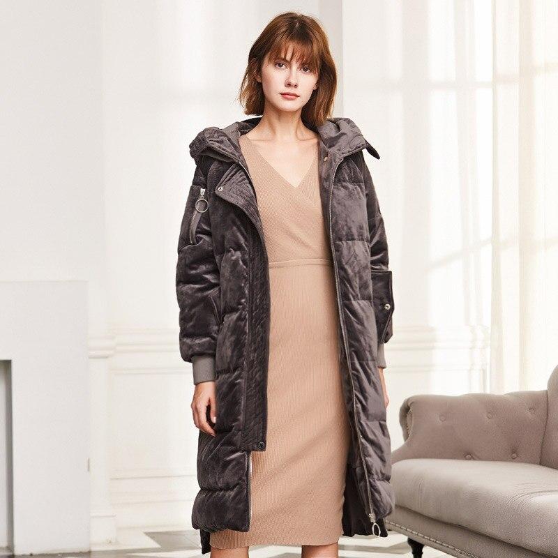 Allentato Fashion Velluto Caldo gray Lungo Giacche Di Yq889 Piumino  Cappuccio Europeo Manteau Delle 2018 Ayunsue Femme Black Inverno Con Donne  Cappotto ... 245d2c4e1fd