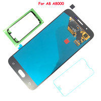 FIX2SAILING 100 Working AMOLED LCD Display Touch Screen Assembly For Samsung Galaxy A8 A8000