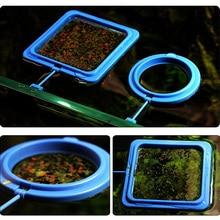 Aquarium Feeding Ring Fish Tank Station Floating Food Tary Feeder Square/Circle New Sale