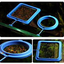 Aquarium Feeding Ring Fish Tank Station Floating Food Tary Feeder Square/Circle New Sale(China)