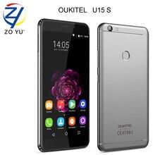 Oukitel u15s смартфон 4 г android 6.0 зефир 4 г + 32 г отпечатков пальцев id мобильного телефона mtk6750 16.0mp 5.5hd 2450 мАч сотовый телефон