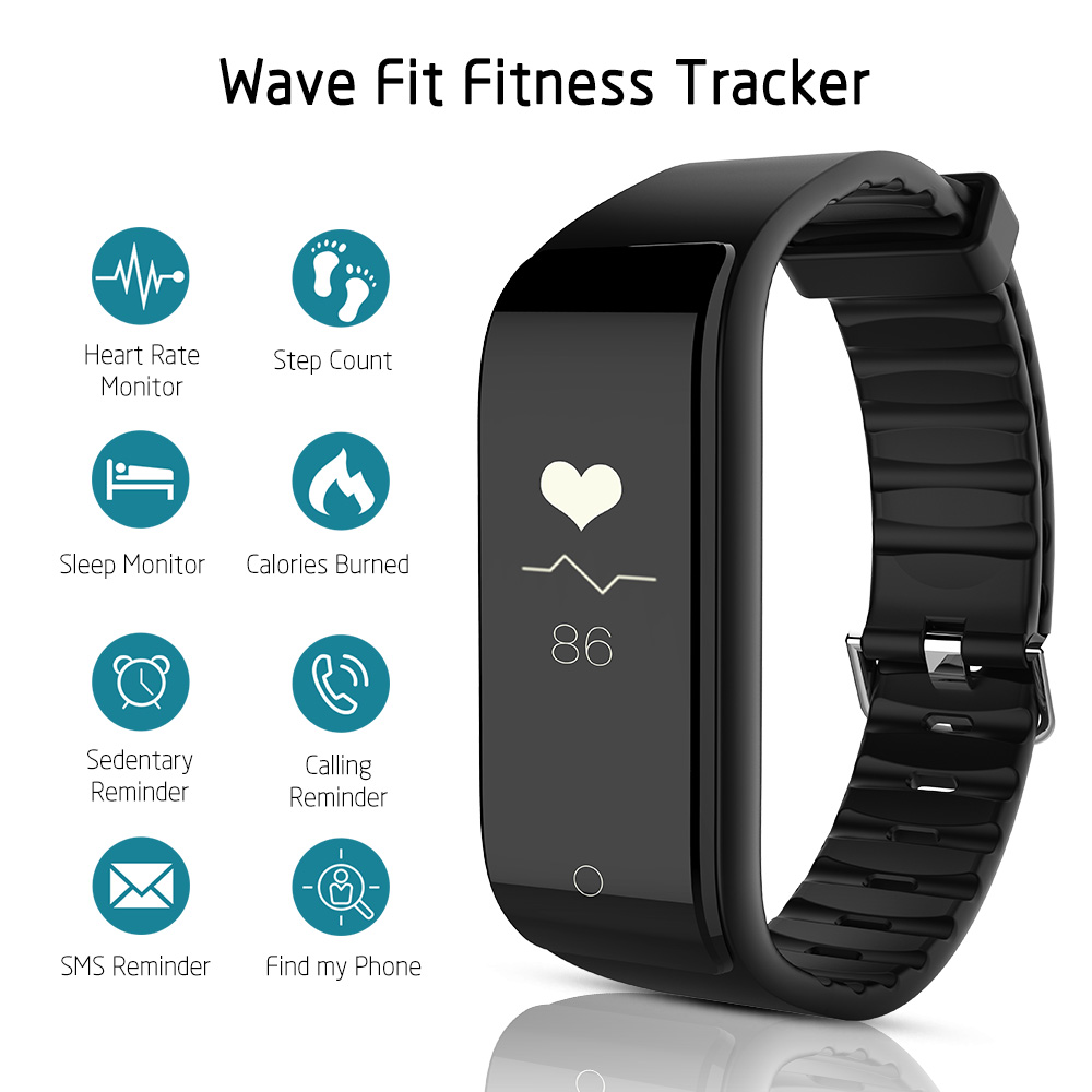 RIVERSONG Fitness Tracker Wristband Heart Rate Monitor Smart Band Smartband  With Pedometer Bracelet sport fitness smart watch pedometer heart rate monitor calories counter led digital sports watch fitness for men women outdoor military wristwatches