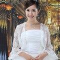 Fashion Long Sleeve Lace Bridal Jackets Shawl Bridal Wraps Bolero white lace bridal jacket wedding shawls and wraps