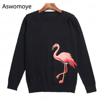ALIMIDA 2017 New Runway Fashion Women Sweaters O Neck Knitted Pullovers Full Sleeve Blouse Shirts Female