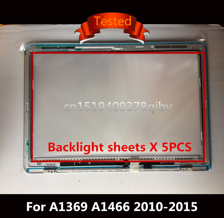 Tested For Macbook Air 13 A1369 A1466 LED with lcd Screen Display Back Rear Reflective Sheets 100% Working with Light Strip играем вместе бластер с мягкими патронами тачки играем вместе