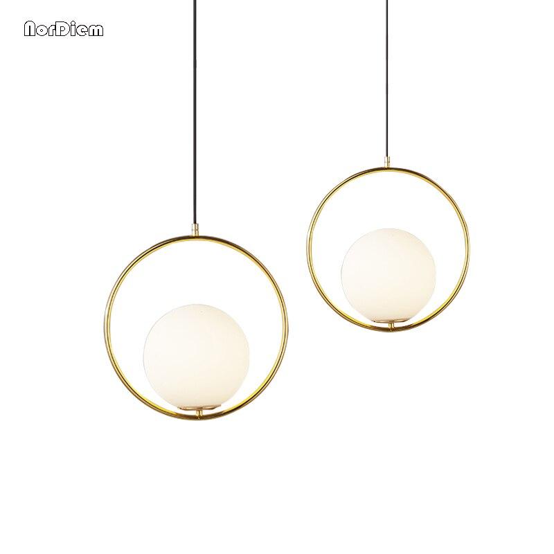 Modern Globe Pendant Lights Bar Restaurant kitchen light Glass Ball Pendant Lamps Round Hang Lamp lamparas
