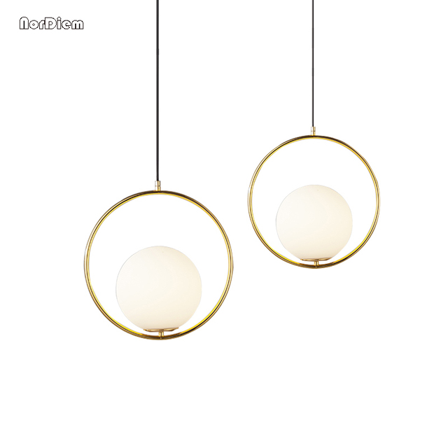 Modern Globe Pendant Lights Bar Restaurant Kitchen Light Glass Ball Pendant  Lamps Round Hang Lamp Lamparas