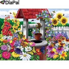 DIAPAI 5D DIY Diamond Painting 100% Full Square/Round Drill Flower butterfly Diamond Embroidery Cross Stitch 3D Decor A21973 diapai 100