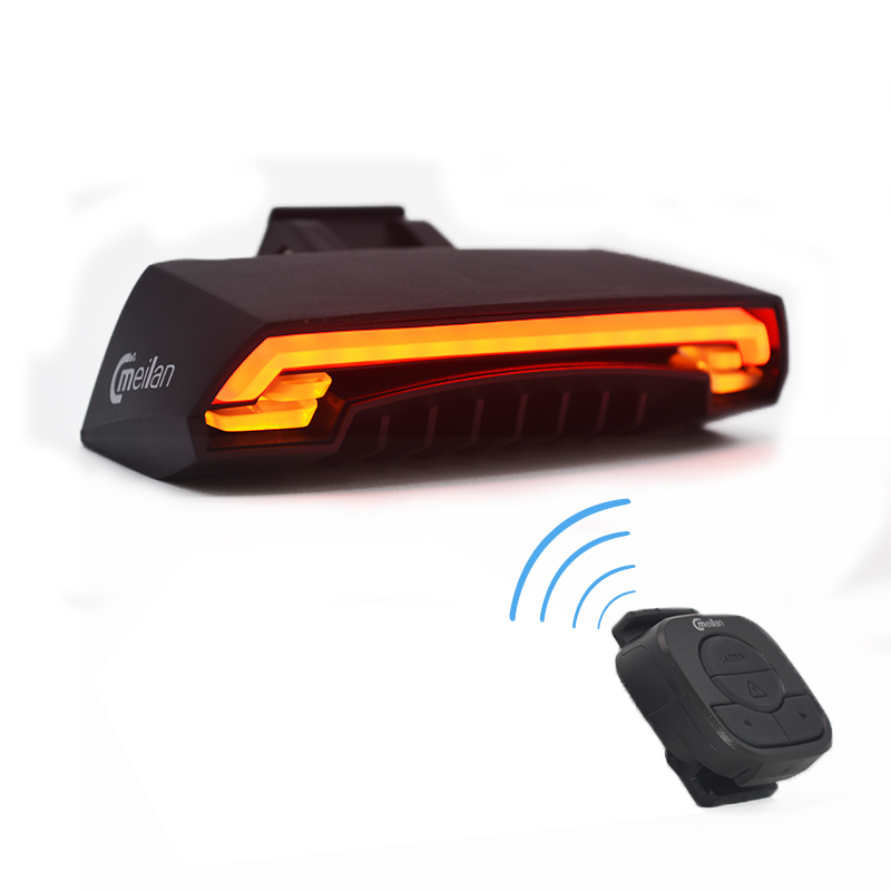 Wireless Bike Bicycle Rear Light Laser Tail Light Smart USB Rechargeable Cycling Accessories Remote Turn Control Signal Laser meilan x5 wireless bike bicycle rear light laser tail lamp smart usb rechargeable cycling accessories remote turn led