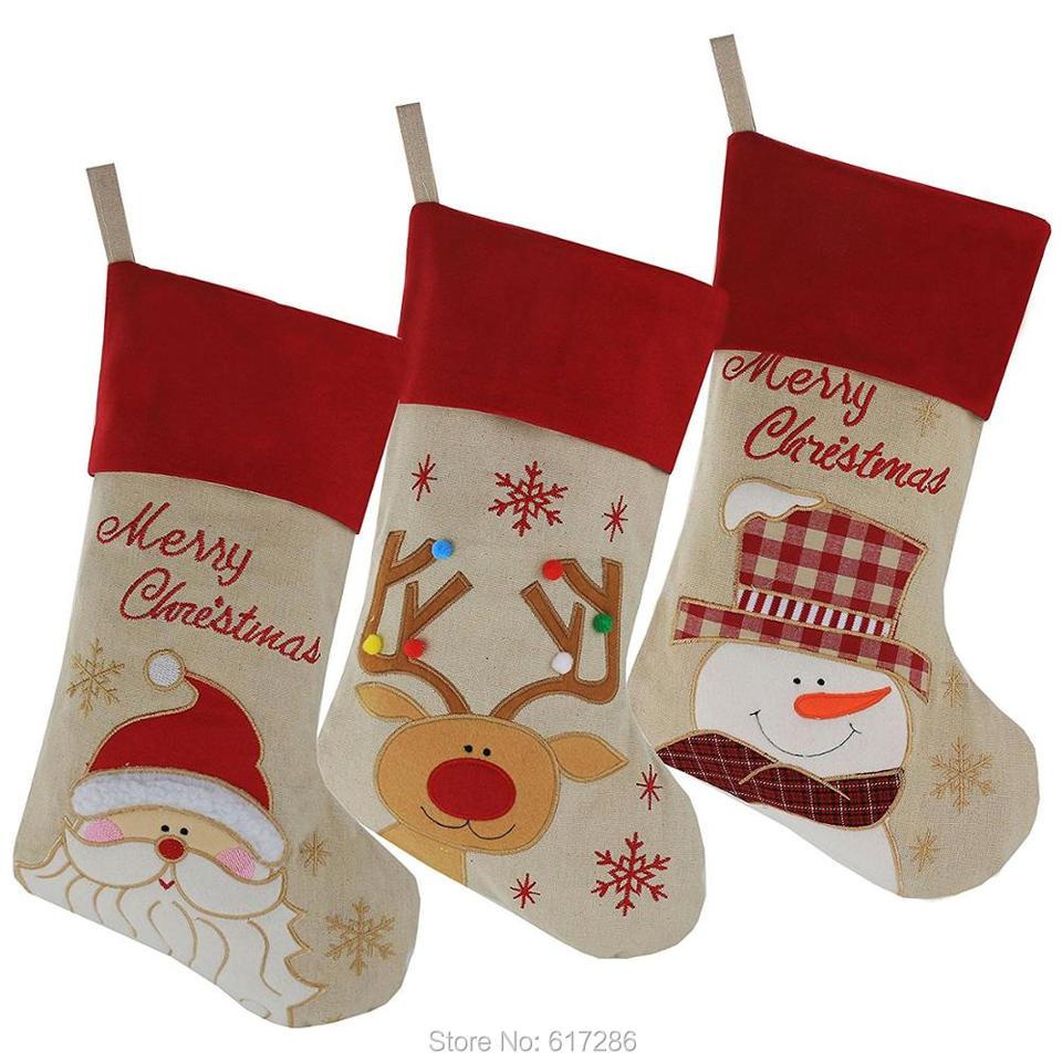 New 30pcs Christmas Stocking Santa Claus Snowman Reindeer Gift Bag Socks Christmas Decoration Hot Sale Wholesale Aliexpress,Country Cottage Decor Uk