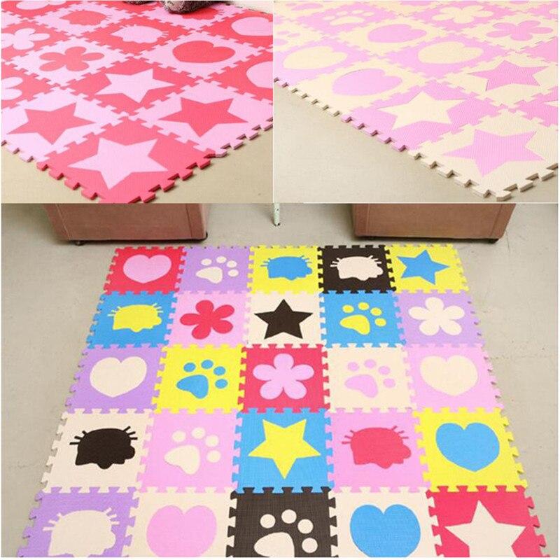 24 pièces EVA mousse ramper enfants Puzzle tapis de sol tapis multicolore écologique enfants doux sécurité tapis